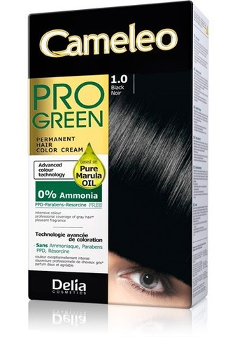 Delia Cosmetics Cameleo Pro Green Краска для волос тон 1.0 черный