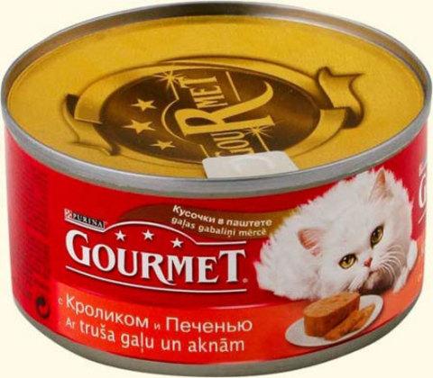 Gourmet Паштет с кроликом и печенью, 85 гр