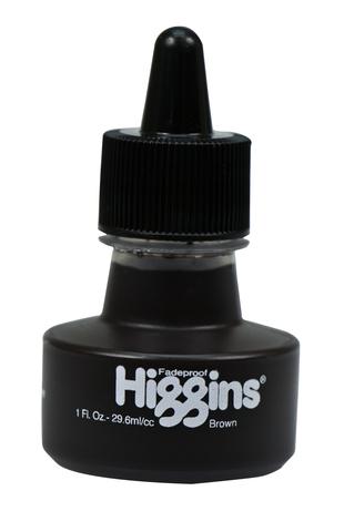 Пигментные чернила HIGGINS BROWN Pigment-Based 1 OZ, 29,6 мл