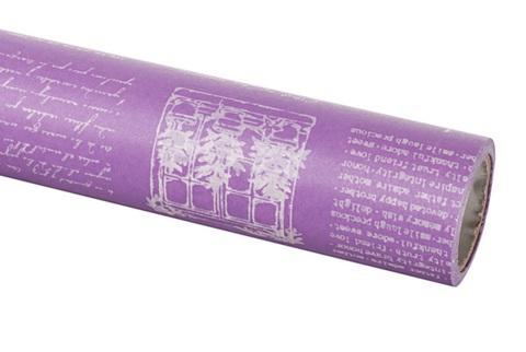 Бумага вощеная 65 см 10м, Herbs, сиреневый