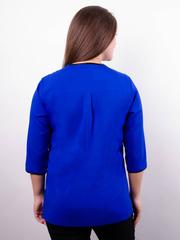 Вега. Оригинальная женская блуза плюс сайз. Электрик.