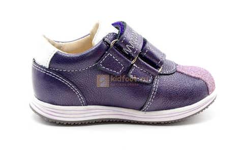 Ботинки для девочек Лель (LEL) из натуральной кожи на липучках цвет фиолетовый, 3-927A. Изображение 4 из 16.