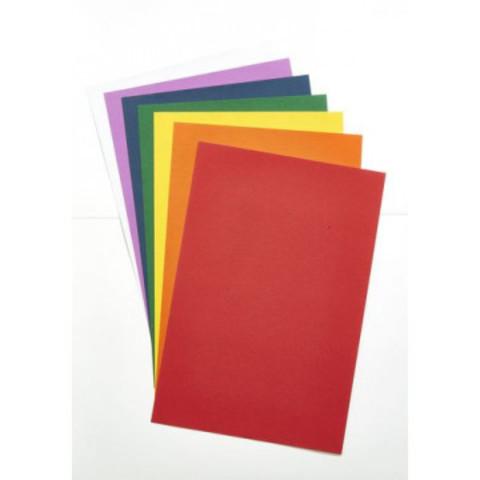 Цветная бумага с фактурным тиснением Альт A4 7 листов 7 цветов