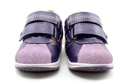 Ботинки для девочек Лель (LEL) из натуральной кожи на липучках цвет фиолетовый, 3-927A. Изображение 5 из 16.