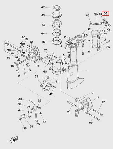 Индикатор наклона  для лодочного мотора T5 Sea-PRO (10-53)