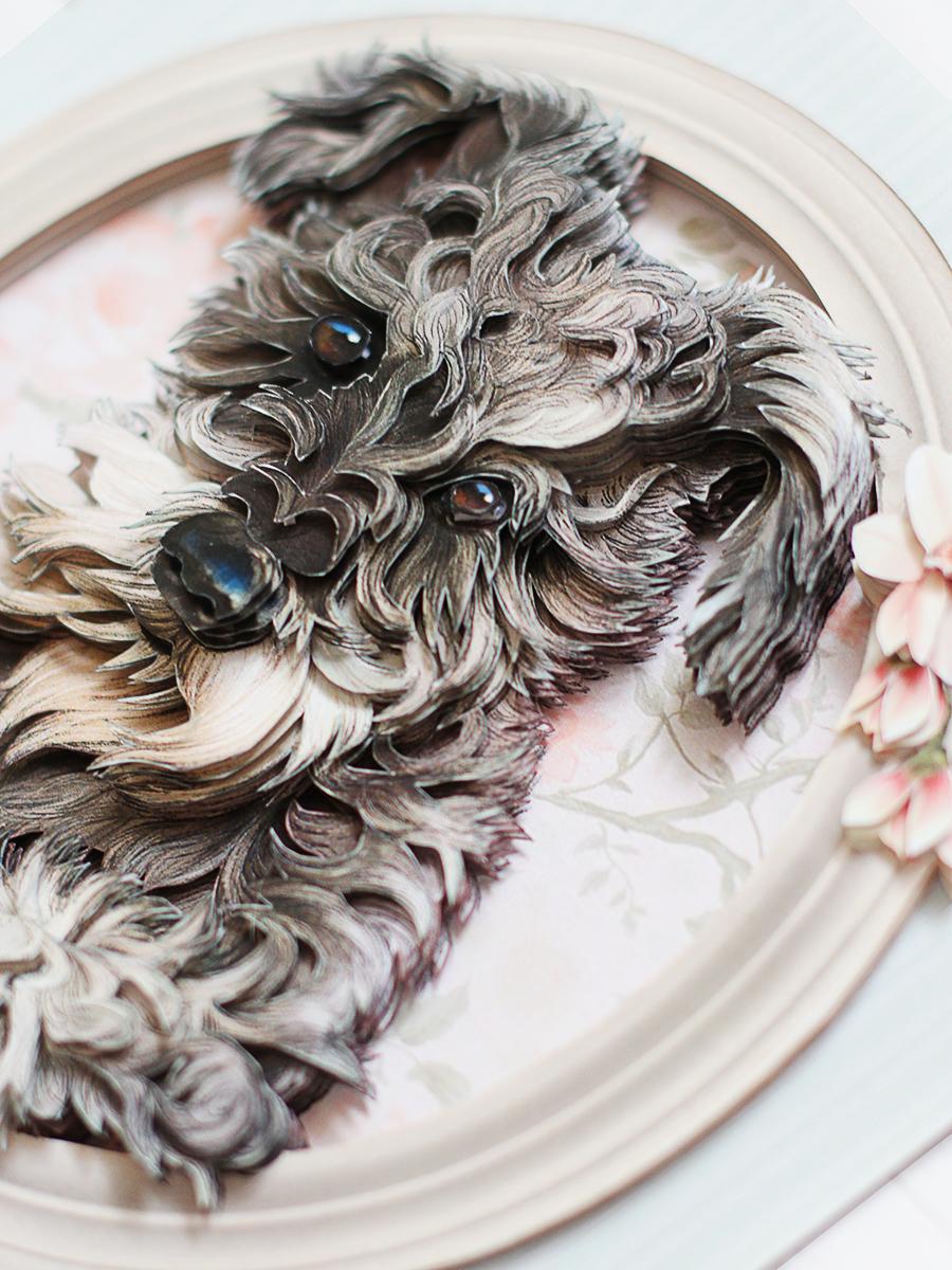 Папертоль Собачка Бетти - готовая работа, детали