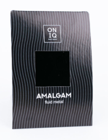 ONF-004 Фольга для дизайна ногтей. AMALGAM Fluid metal: Black Metallic Nail Foil