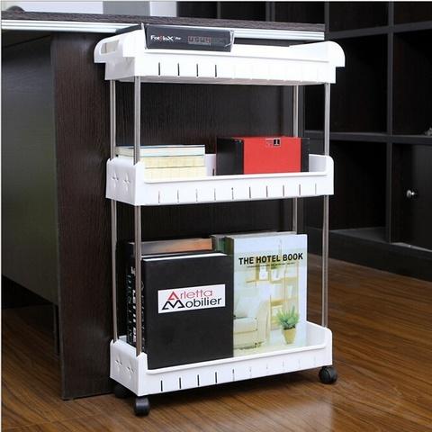 Стеллаж напольный выдвижной 4-х полочный Storage Organizer