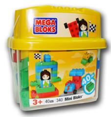 Mega Bloks Ведерко мини, 40 деталей (340)
