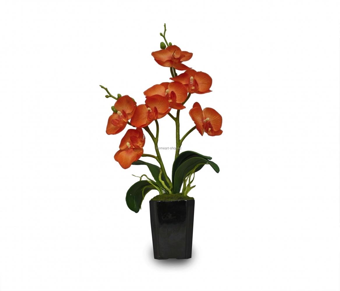 Орхидея в горшке, искусственное растение.