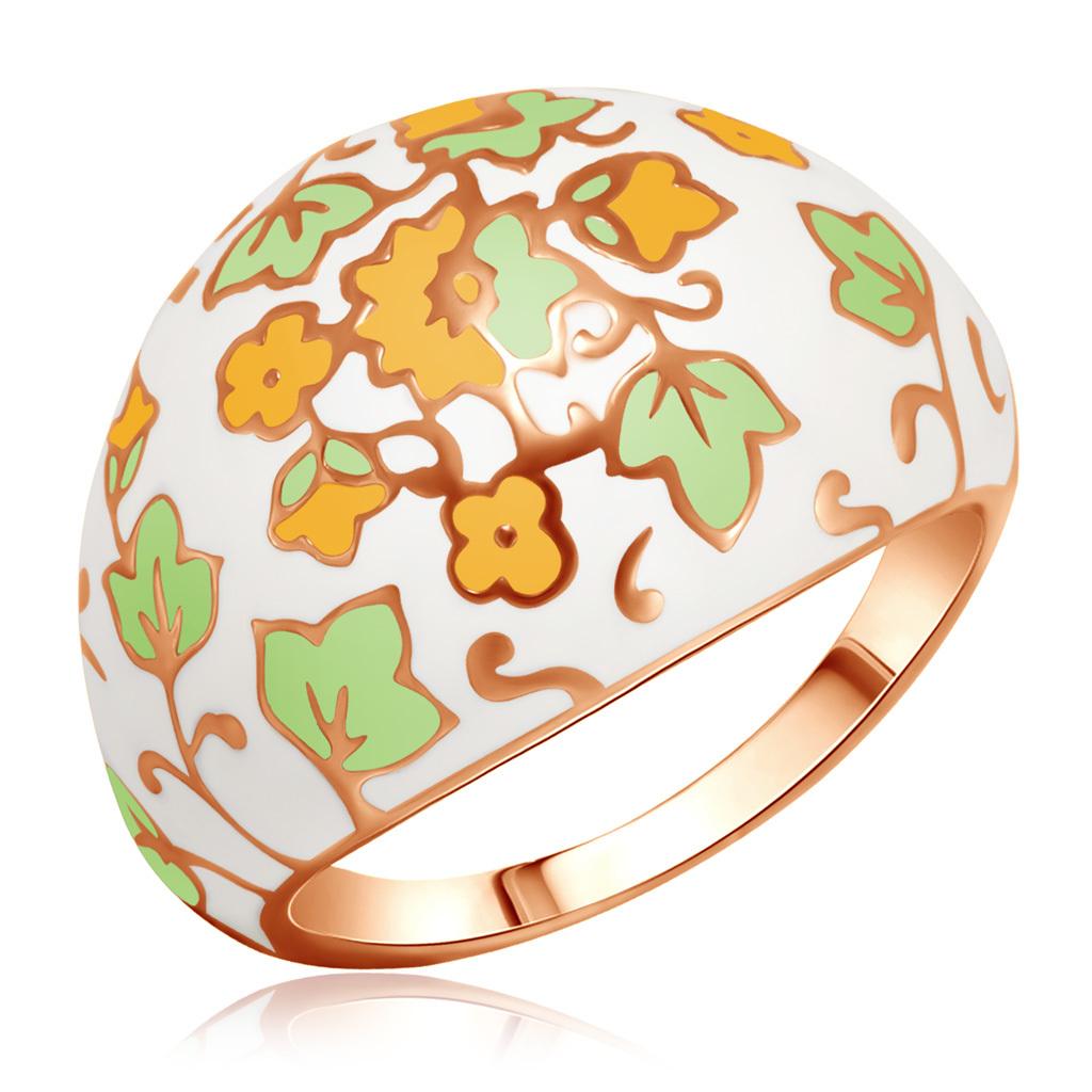 Позолоченное кольцо декорированное эмалью