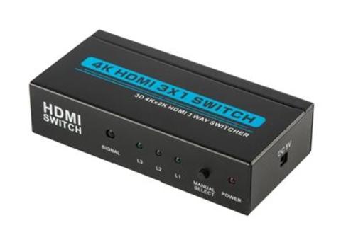 HDMI Switch 3x1 4k*2k (из 3-x HDMI в 1 HDMI) + пульт