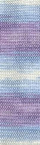 Пряжа Alize Baby Wool Batik сирень-голубой-белый 3566