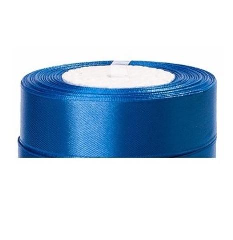 Лента атласная (размер:25мм х 25 ярдов) Цвет:голубой