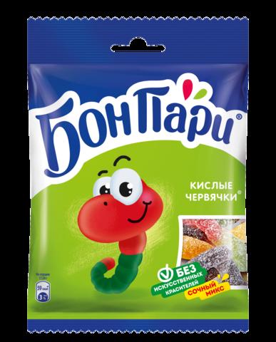 """Мармелад """"Бон пари"""" кислые червячки 75 г"""