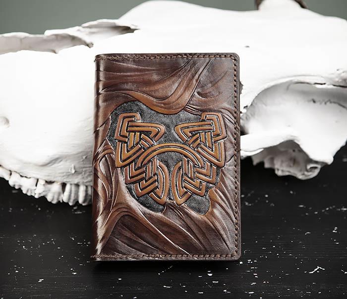 BC206-2 Крутой кожаный блокнот «Борода» ручной работы (А6)