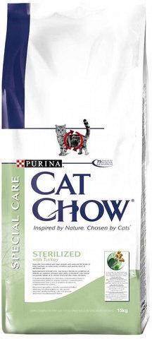 Cat Chow Сухой корм для кошек для стерилизованных кошек,0,4 кг