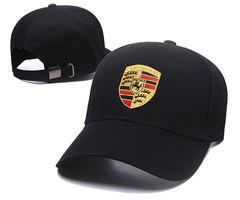 Модная бейсболка с вышивкой Порше (Кепка Porsche) черная