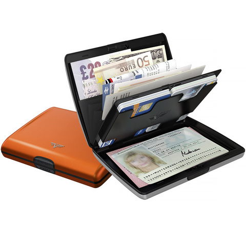 Кошелек-органайзер c защитой Tru Virtu Ray, оранжевый , 130x102x23 мм