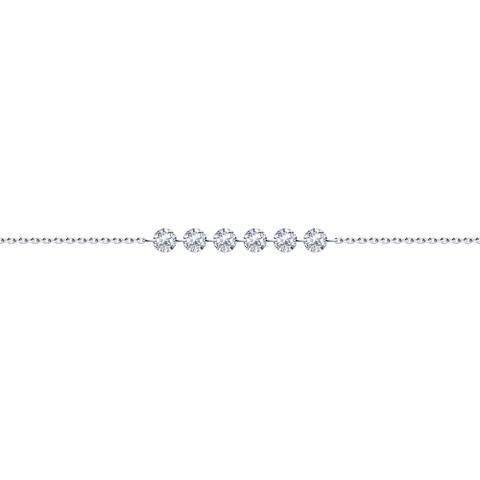 94050622 - Браслет из серебра с фианитами
