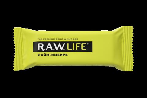 Батончик R.A.W. LIFE Лайм-имбирь 47 гр