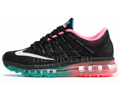 Кроссовки Женские Nike Air Max 2016 Black Pink Turquise