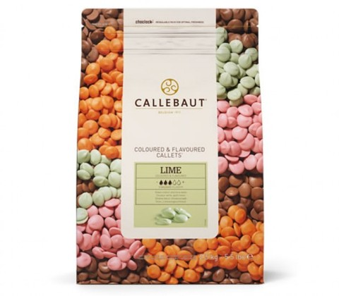 Шоколад со вкусом лайма зеленый Callebaut