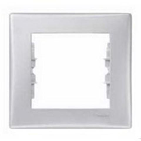 Рамка на 1 пост. Цвет алюминий. Schneider Electric Sedna. SDN5800160