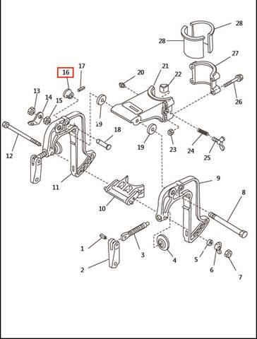 Втулка стопора струбцины  для лодочного мотора T2,5 SEA-PRO (6-16)
