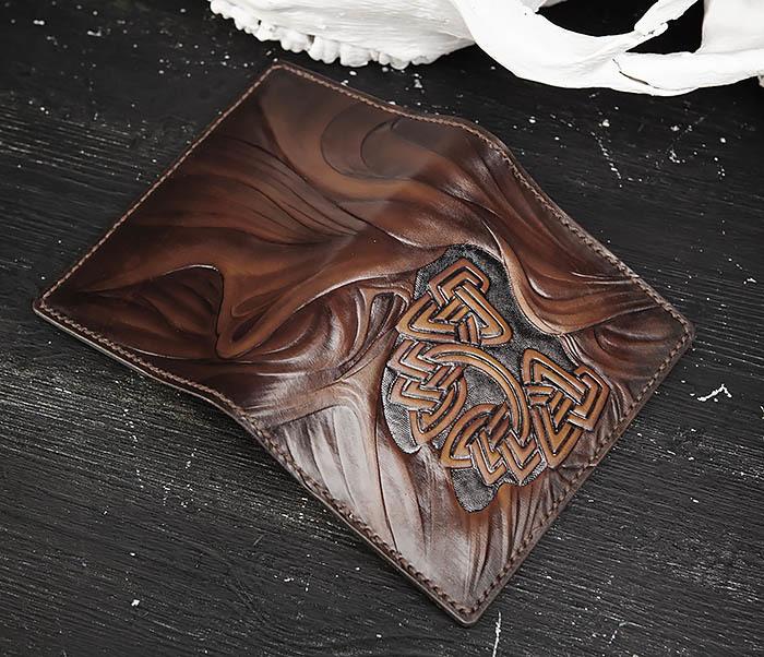 BC206-2 Крутой кожаный блокнот «Борода» ручной работы (А6) фото 05