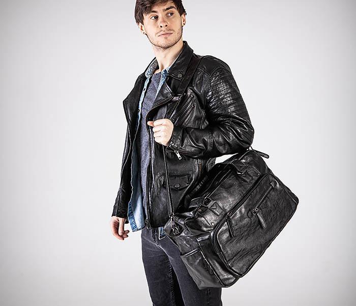 BAG545 Вместительная сумка для поездок из кожи