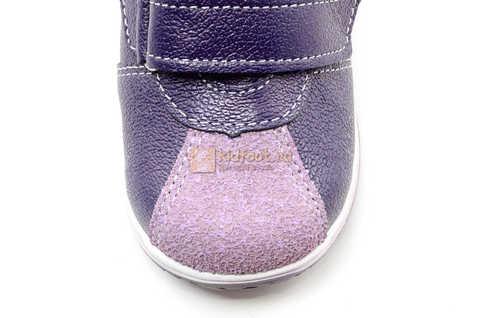 Ботинки для девочек Лель (LEL) из натуральной кожи на липучках цвет фиолетовый, 3-927A. Изображение 13 из 16.