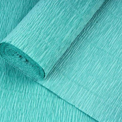 Бумага гофрированная, цвет 17Е/4 зеленый тиффани, 180г, 50х250 см, Cartotecnica Rossi (Италия)