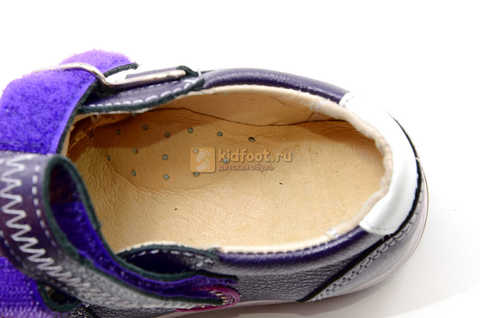 Ботинки для девочек Лель (LEL) из натуральной кожи на липучках цвет фиолетовый, 3-927A. Изображение 14 из 16.