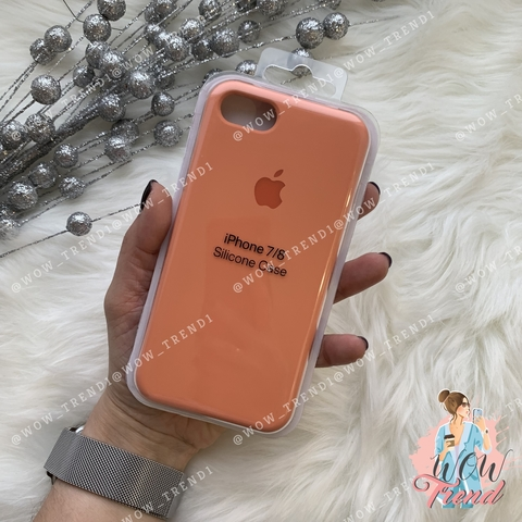 Чехол iPhone 7/8 Silicone Case /peach/ персик 1:1