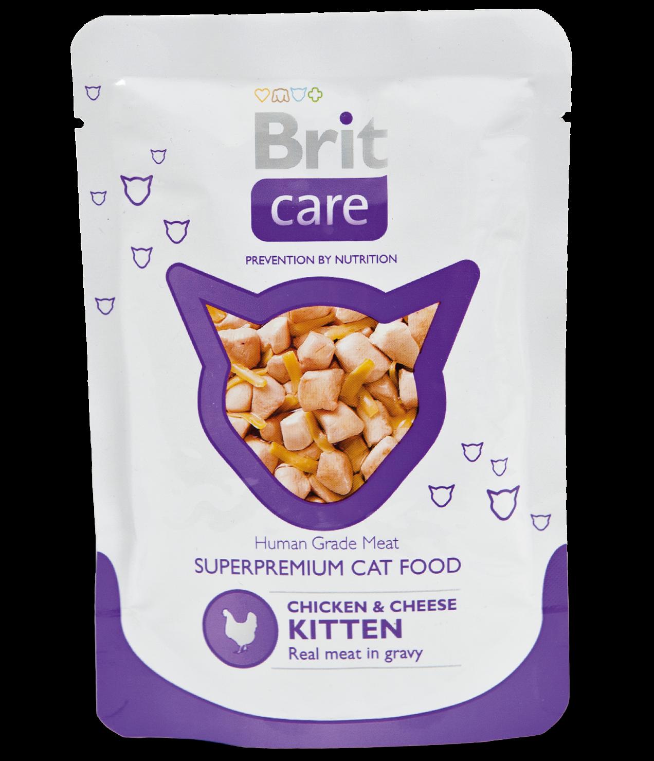 "Brit Care Пауч для котят, Brit Care Cat, ""Курица и сыр"" кэа_киттен.png"