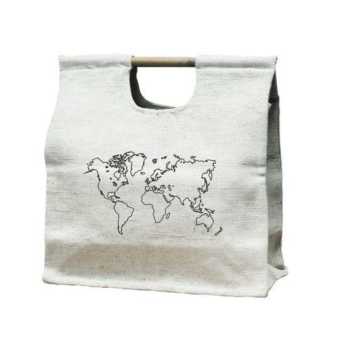 Экосумка с бамбуковой ручкой Bamboo-Bag Карта, 42х38х17 см