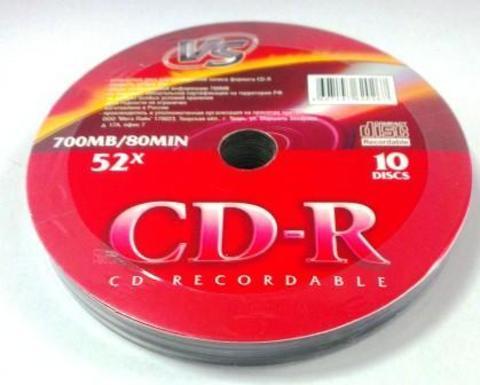 Диск VS CD-R 80 52x Shrink/10