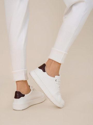 Женские брюки молочного цвета из шерсти - фото 6