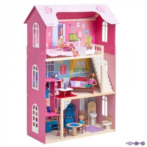 Кукольный домик Paremo Муза для кукол до 30 см 16 предметов мебели лестница лифт качели PD315-01