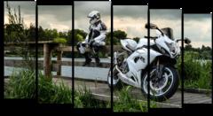 """Модульная картина """"Мотоцикл Suzuki"""""""