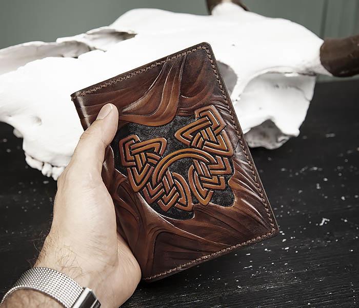 BC206-2 Крутой кожаный блокнот «Борода» ручной работы (А6) фото 10