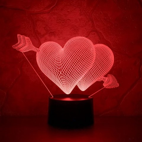Ночник два сердца