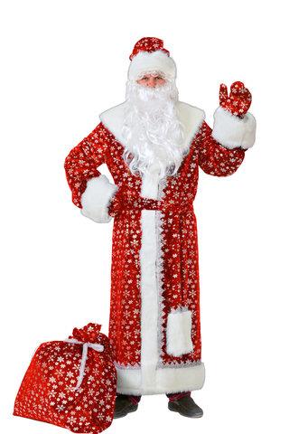 Дед Мороз красный (плюш) Аренда 1 сутки