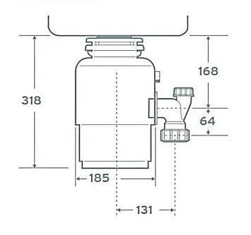 Измельчитель пищевых отходов In-Sink-Erator E75-2