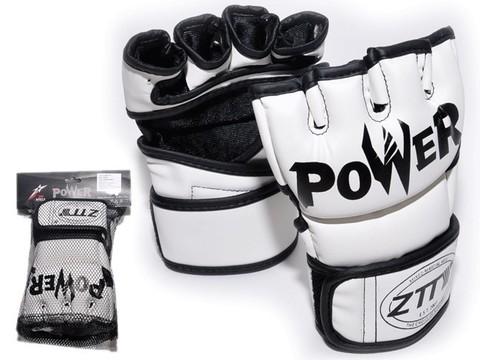 Перчатки для ММА. Цвет: белый.  Размер L.