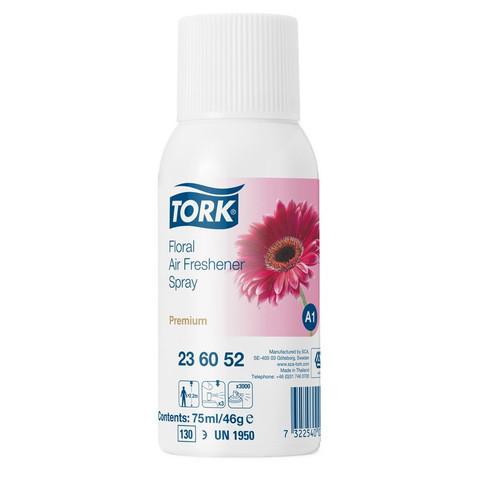 Сменный баллон для автоматического освежителя Tork Premium А1 цветочный 75 мл