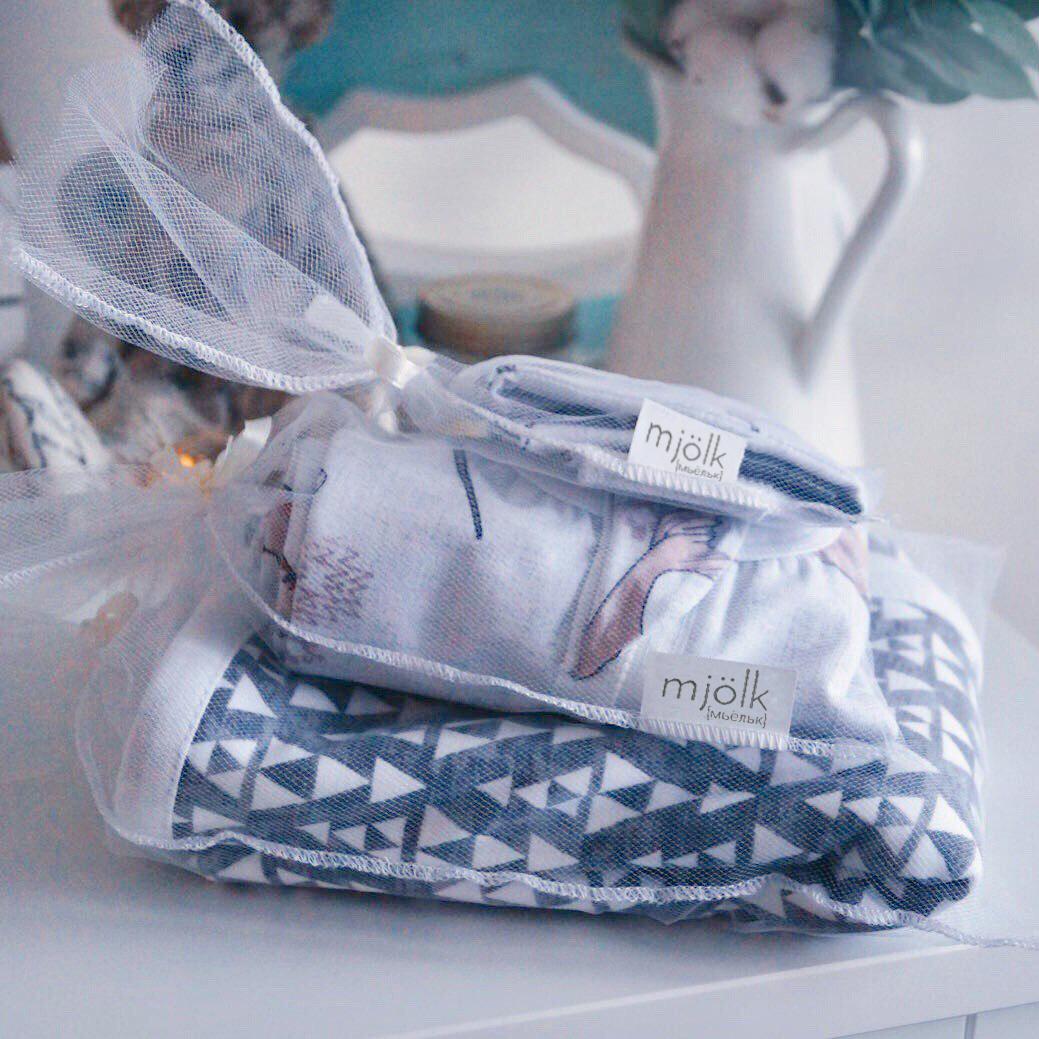 Утепленный спальный мешок Mjölk Медведи в треугольниках