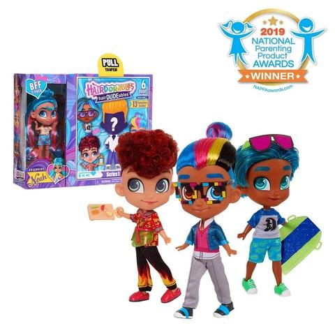Кукла-сюрприз HairDUDEables 1 серия Мальчик и Ноа