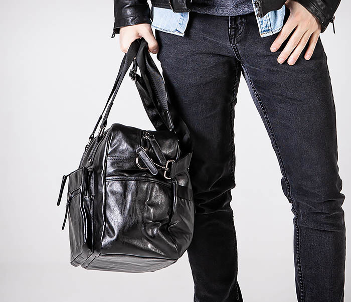 BAG545 Вместительная сумка для поездок из кожи фото 02